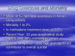 drug overdose and mortality