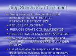 drug substitution treatment