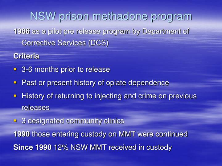 NSW prison methadone program
