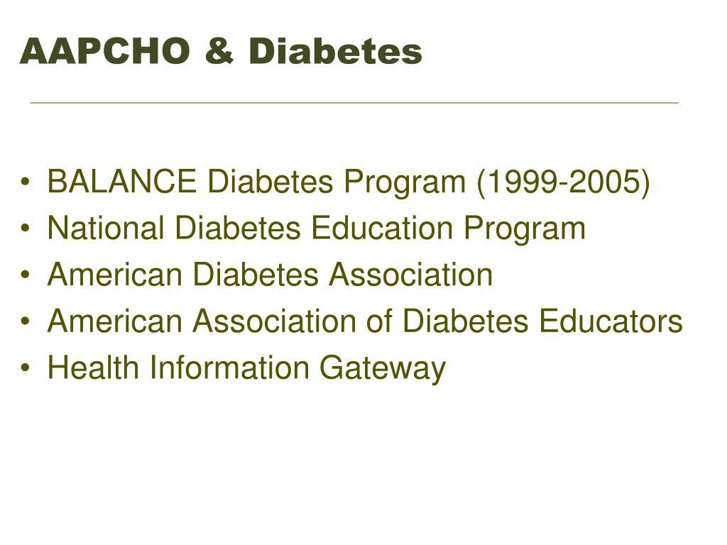 AAPCHO & Diabetes