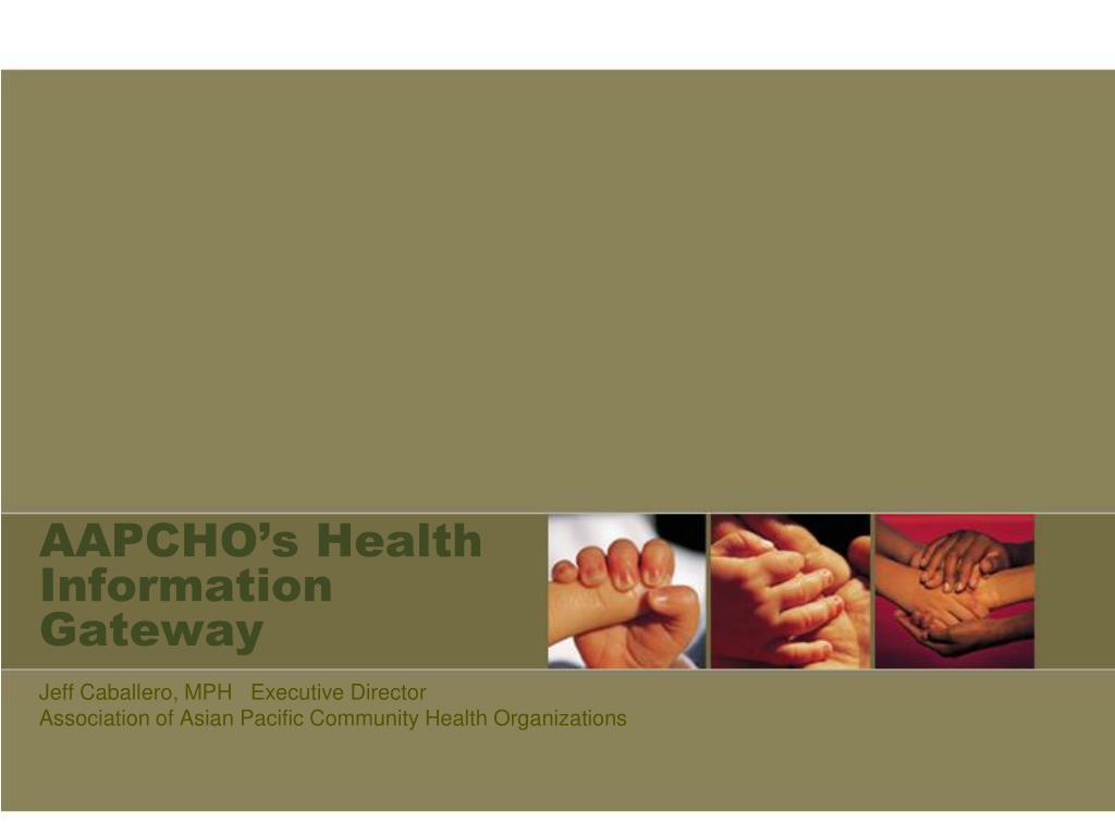 AAPCHO's Health  Information Gateway