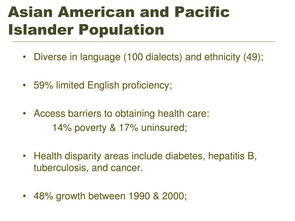 Asian American and Pacific Islander Population