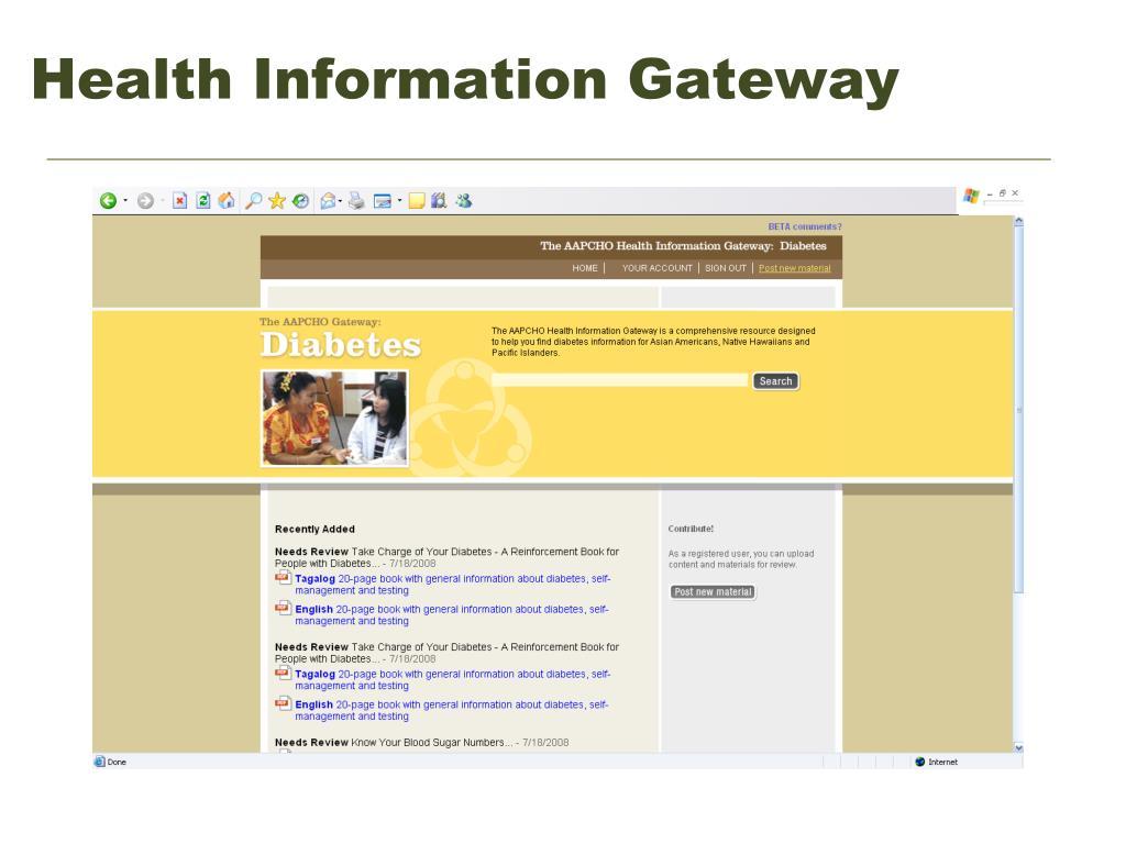 Health Information Gateway
