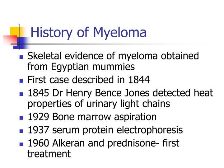 History of Myeloma