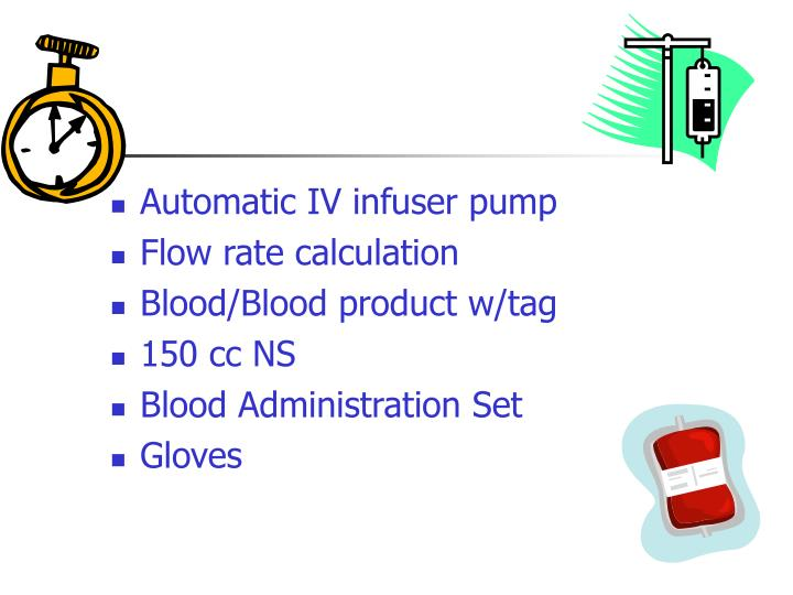 Automatic IV infuser pump