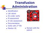 transfusion administration