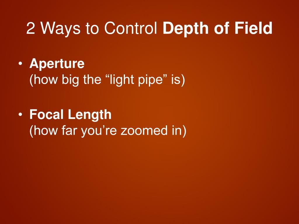 2 Ways to Control