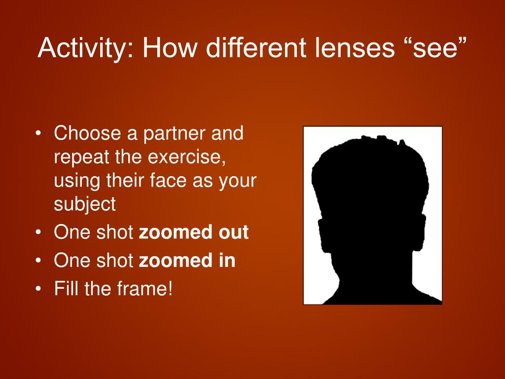 "Activity: How different lenses ""see"""
