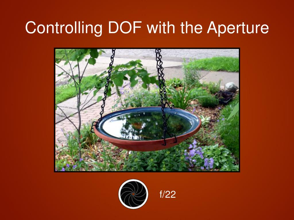 Controlling DOF with the Aperture