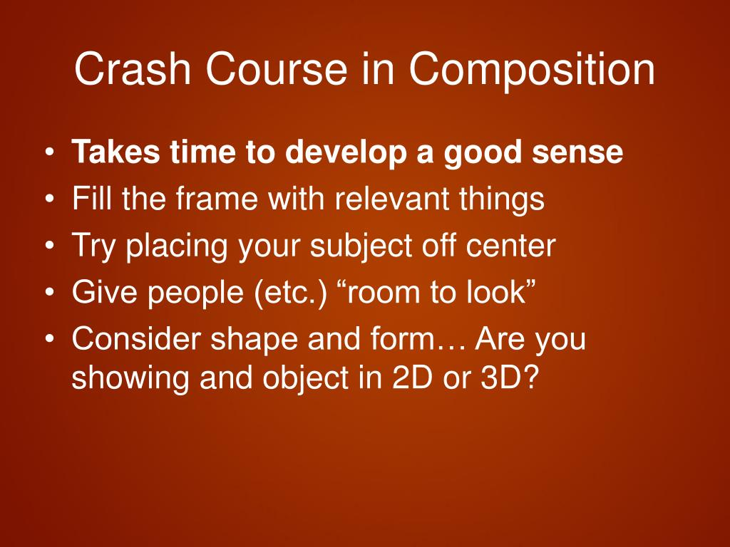 Crash Course in Composition