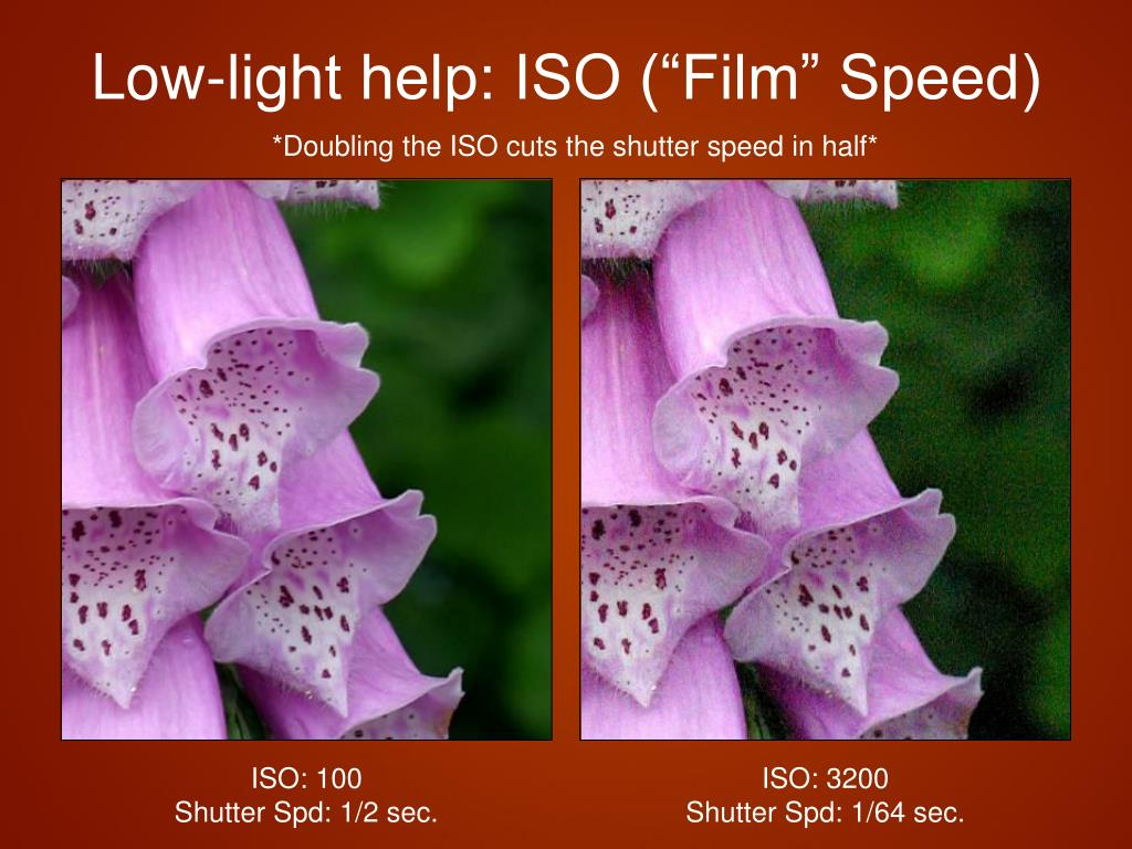 "Low-light help: ISO (""Film"" Speed)"