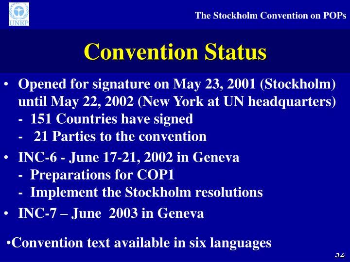 Convention Status