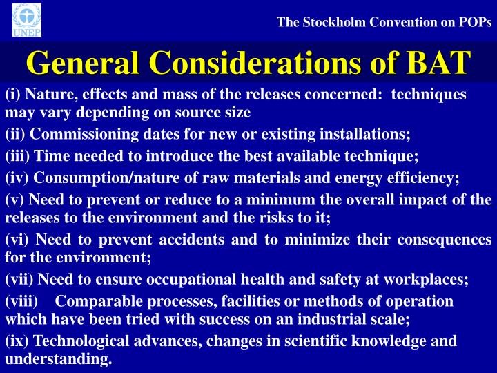 General Considerations of BAT