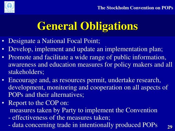General Obligations