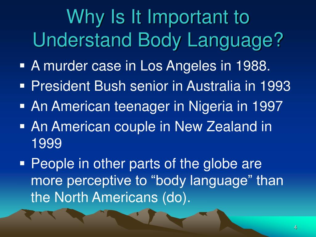 Why Is It Important to Understand Body Language?