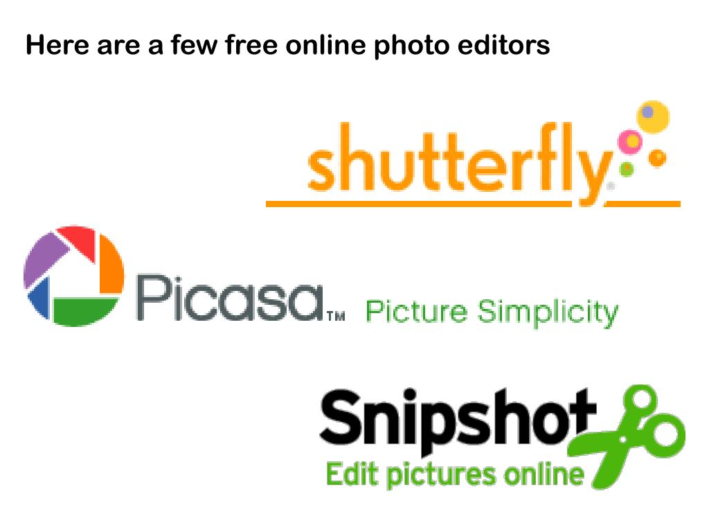 Here are a few free online photo editors