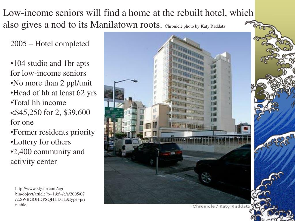 Low-income seniors will find a home at the rebuilt hotel, which also gives a nod to its Manilatown roots.