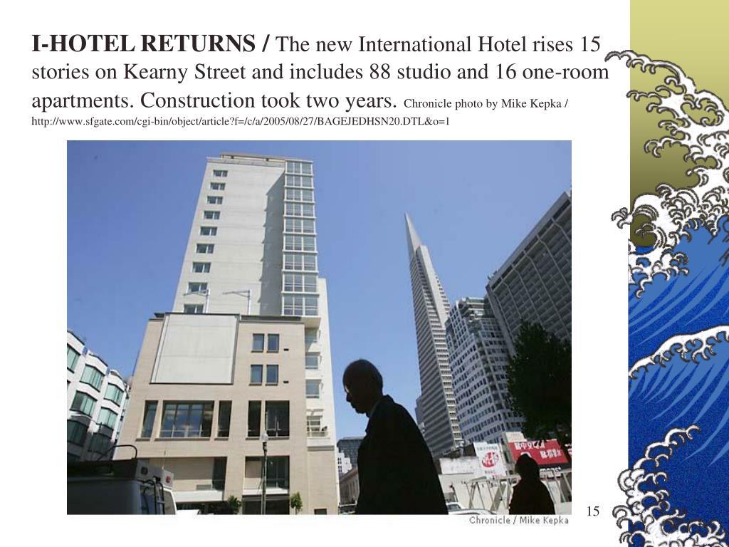 I-HOTEL RETURNS /