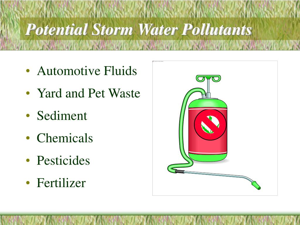Potential Storm Water Pollutants