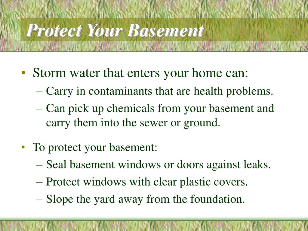 Protect Your Basement