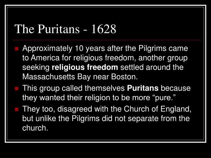 The Puritans - 1628