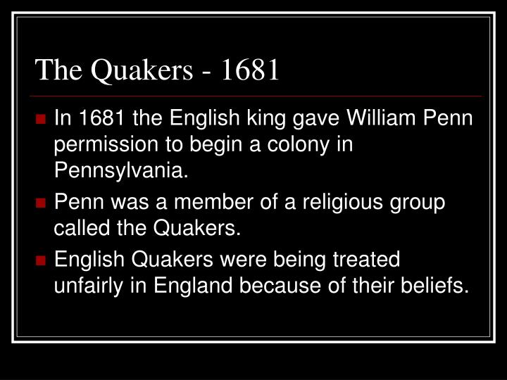 The Quakers - 1681