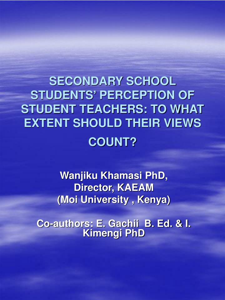 opinion of secondary school teachers on There was no significant difference between the opinions of secondary school teachers and principals with regard to the administrative practices that characterize the keeping of records in secondary schools in enugu education zone based on findings of the study, recommendations were made.