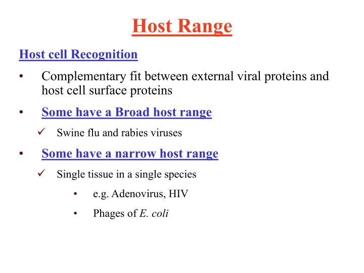 Host cell Recognition