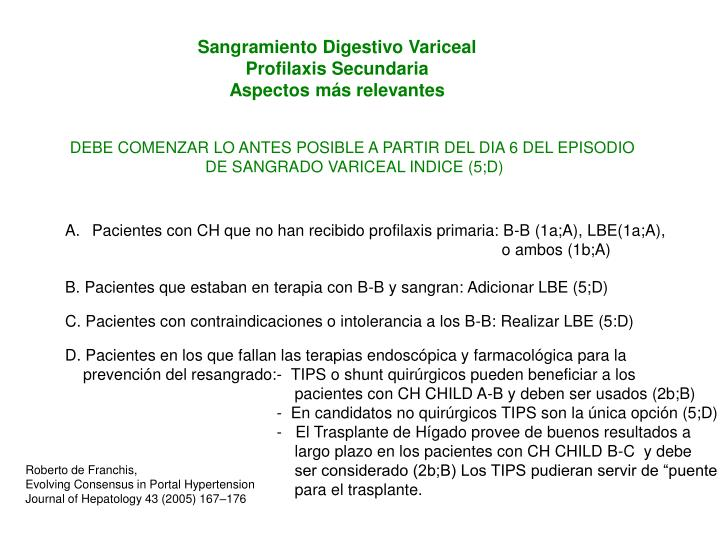 Sangramiento Digestivo Variceal