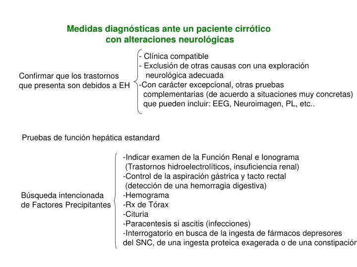 Medidas diagnósticas ante un paciente cirrótico