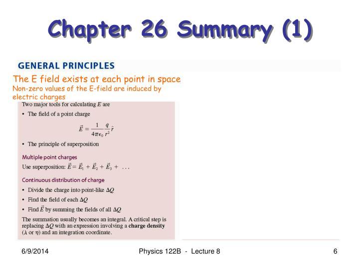 Chapter 26 Summary (1)