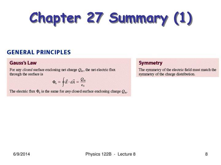 Chapter 27 Summary (1)