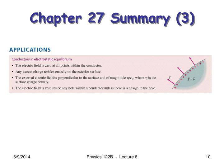 Chapter 27 Summary (3)