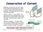 conservation of current