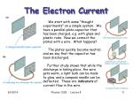 the electron current