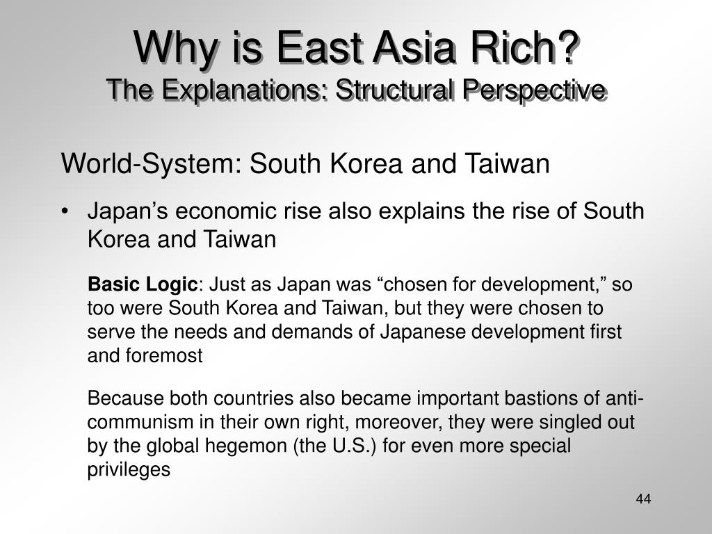 Why is East Asia Rich?