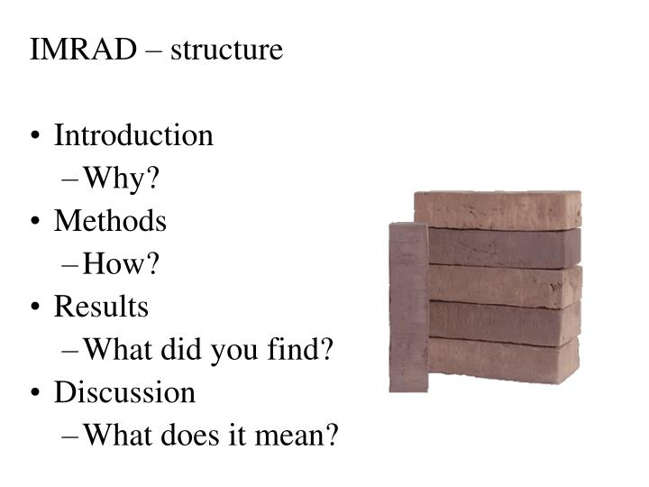 IMRAD – structure