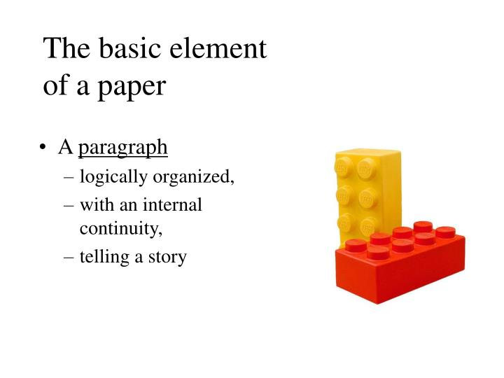 The basic element of a paper