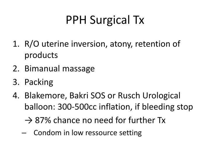 PPH Surgical Tx