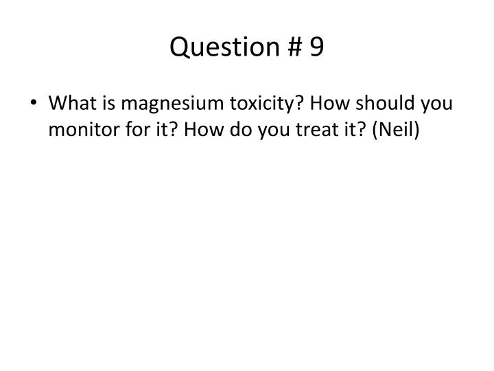 Question # 9