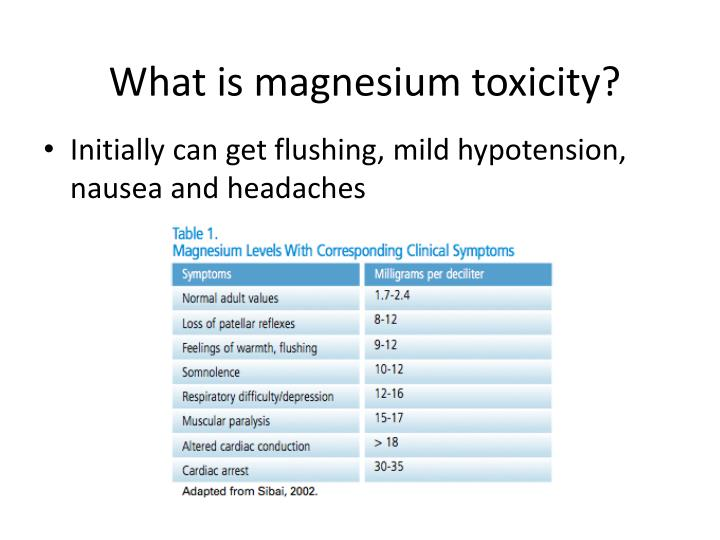 What is magnesium toxicity?