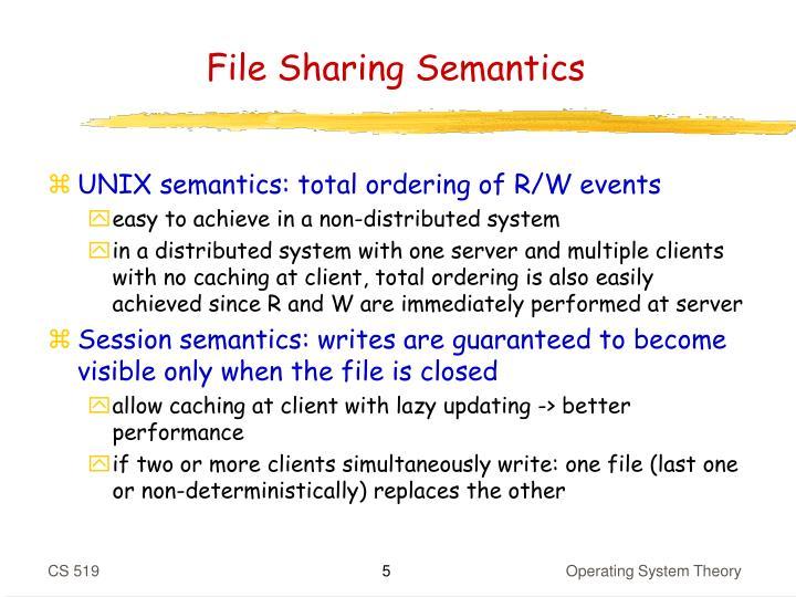 File Sharing Semantics