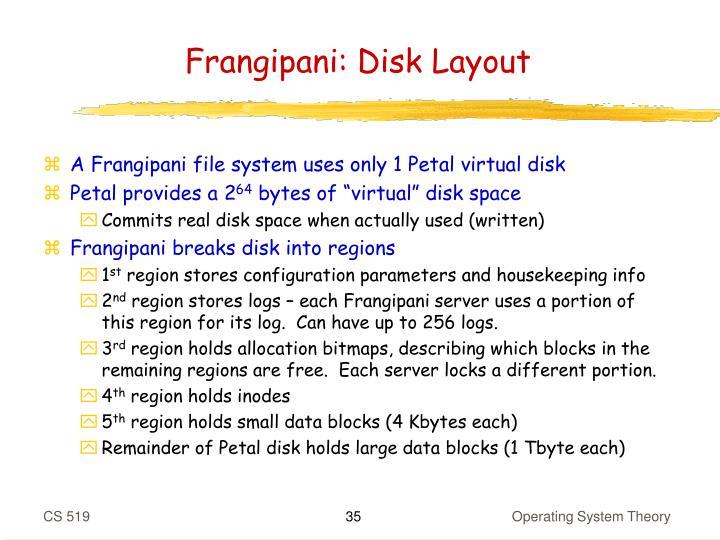Frangipani: Disk Layout