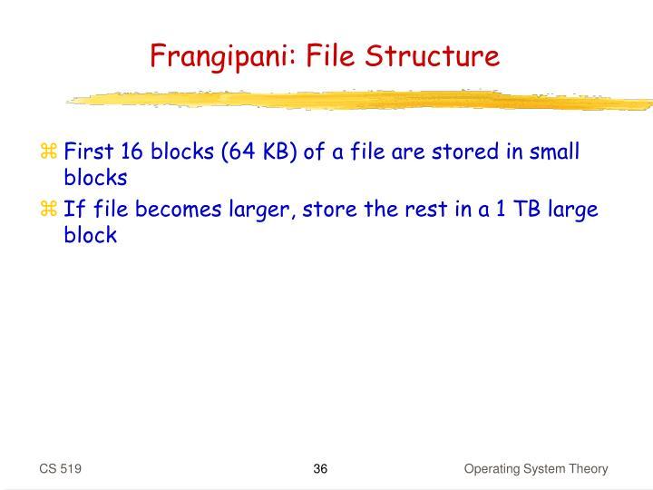 Frangipani: File Structure