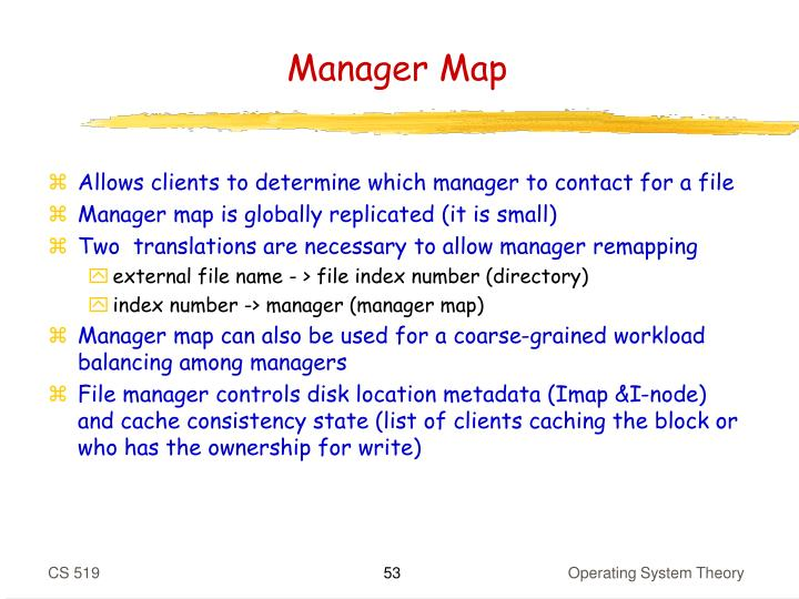 Manager Map