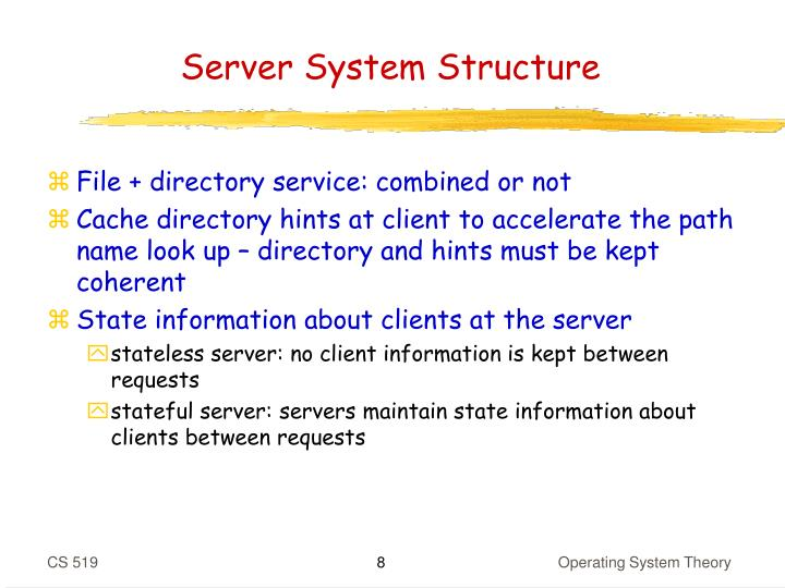 Server System Structure