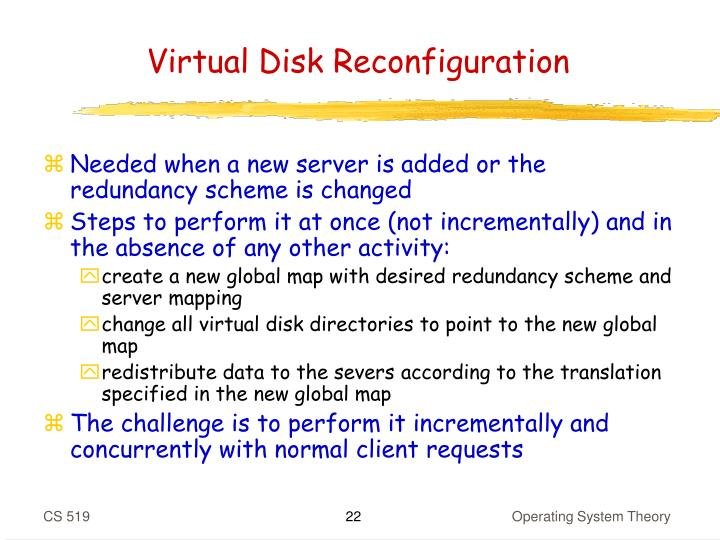 Virtual Disk Reconfiguration