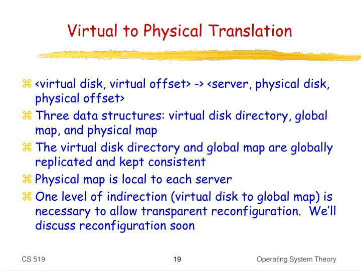 Virtual to Physical Translation