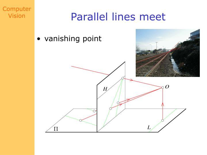 Parallel lines meet