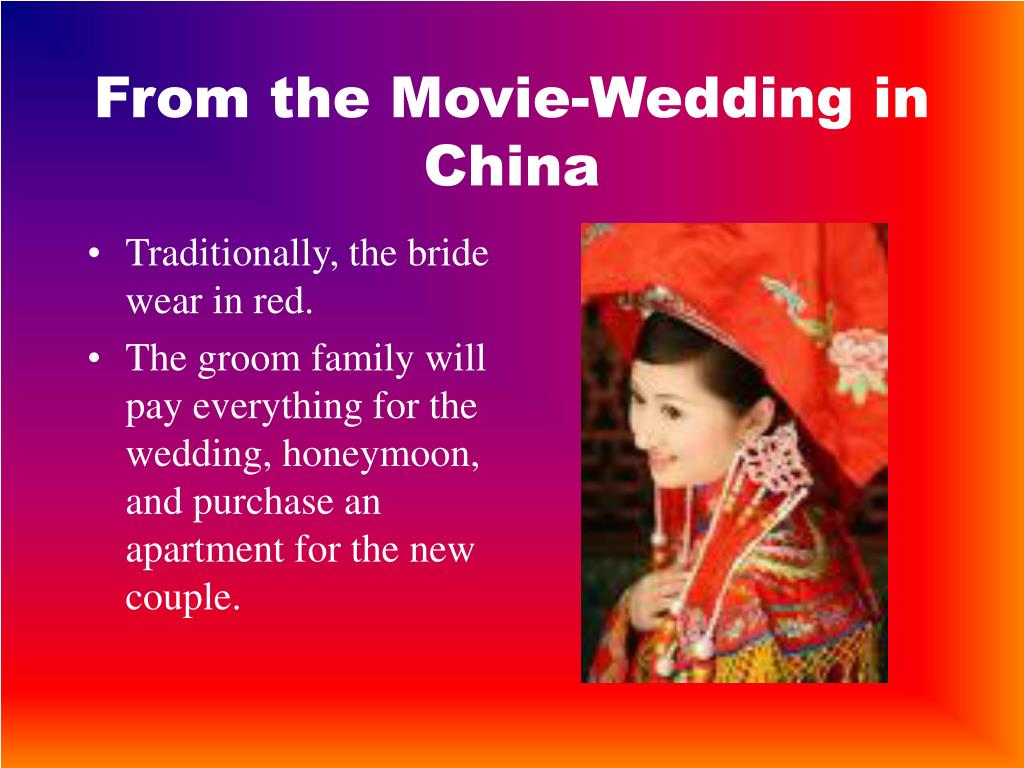From the Movie-Wedding in China